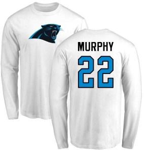 Marcus Murphy Carolina Panthers Men's White Name & Number Logo Long Sleeve T-Shirt -