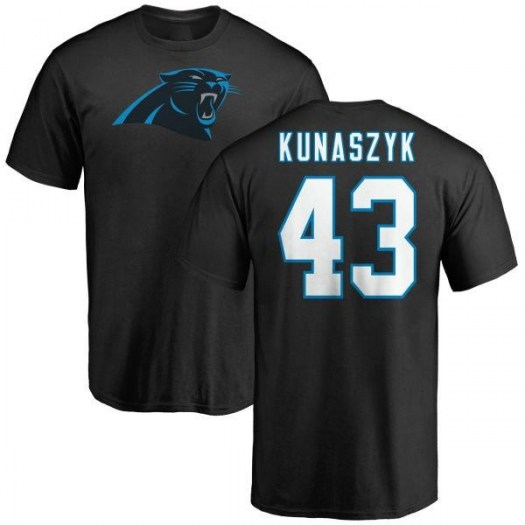 Jordan Kunaszyk Carolina Panthers Youth Black Any Name & Number Logo T-Shirt -