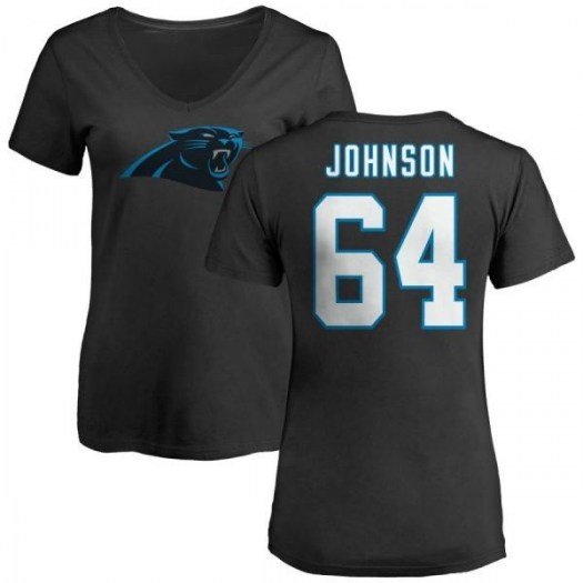 Dorian Johnson Carolina Panthers Women's Black Any Name & Number Logo Slim Fit T-Shirt -