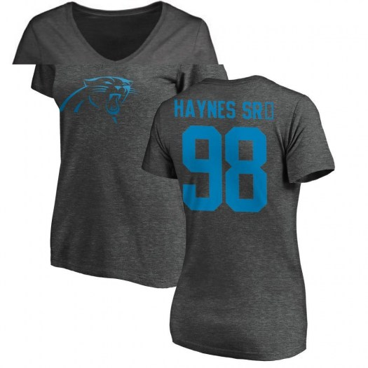 Marquis Haynes Carolina Panthers Women's Pro Line by Branded One Color T-Shirt - Ash