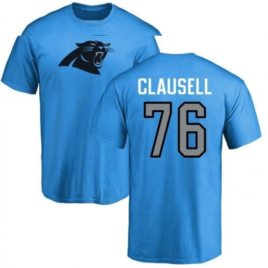 Blaine Clausell Carolina Panthers Men's Blue Pro Line Name & Number Logo T-Shirt -