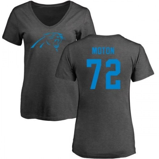 Taylor Moton Carolina Panthers Women's Pro Line by Branded One Color T-Shirt - Ash